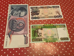 LOT DE 3 BILLETS Voir Le Scan Pour L'état Des Billets - Kilowaar - Bankbiljetten