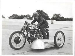 ANCIENNE PHOTO -  MOTO SIDE CAR - NORTON  - 24 X 18 Cm - Sport