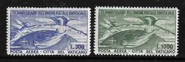 Vatican PA YT N° 18/19 Neufs *. B/TB. A Saisir! - Airmail