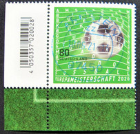 "Bund/BRD Juni 2021,  Sondermarke ""Fußball--Europameisterschaft 2020"" MiNr 3611, Ecke 3, Ersttagsgestempelt - Used Stamps"