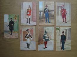 LOT DE 7 CPA GARDES VATICAN - Uniforms