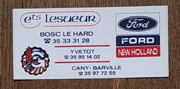 AUTOCOLLANT  STICKER - ETS LESUEUR - BOSC LE HARD - YVETOT CANY-BARVILLE - FORD NEW HOLLAND - MATERIEL AGRICOLE - Autocollants