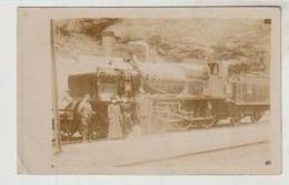 Carte-photo Locomotive Photographiée En Gare De VIF (isère) - Trains