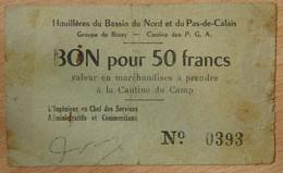 Bruay En Artois ( 62 - Pas De Calais) > Bon De 50 Francs ND Camp Des Prisonniers Guerre Allemand - Bonds & Basic Needs