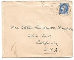 (C14) Y&T N°S 374 SEUL - LETTRE NEW YORK AU HAVRE C => USA 1939 - TARIF DU 01/12/1938 - DAGUIN EMBARQUE ;-) - Storia Postale