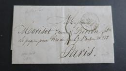 """Lettre De New York Avec Texte Decembre 1841 Pour Paris Acheminé Mention  """" Forwarded .... """" Au Verso Voir Scans - 1801-1848: Vorläufer XIX"""