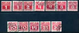 PORTO Mi. 34y,34z 35y,36x 36y,37x,37y,38x,38y,39z,41z,42x Gestempelt - Postage Due