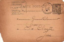 CPA 1891 : Fabricant De Pipes , Mr Grandclément,  Saint Claude - Vari