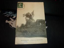 Cartes Postale Oise Eglise De Cinqueux Le 25/02/1910 Chute Du Clocher - Altri Comuni