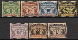 Haut Sénégal Et Niger - 1906 - Taxe TT N°Yv. 1 à 7 - Série Complète - Neuf * / MH VF - Nuovi