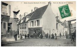 77 BRIE-COMTE-ROBERT - Rues Du Marché Et Du Chateau - Brie Comte Robert