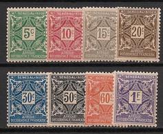 Haut Sénégal Et Niger - 1915 - Taxe TT N°Yv. 8 à 15 - Série Complète - Neuf * / MH VF - Neufs