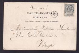 DDZ 718 --  LES IMPRIMES - Carte-Vue TP Armoiries 1 C  Annulé à L' Arrivée à BRUGES Par Cachet De Facteur 12 - 1893-1907 Coat Of Arms