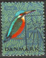 Isfugl / Kingfisher - CHRISTMAS - JUL JULEN - LABEL / CINDERELLA / VIGNETTE - 1965 Denmark Danmark - Autres