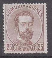 1872 Edifil 124 Amadeo I 25c. Nuevo - Nuevos