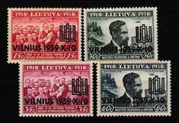 LITUANIE 1939 YT N° 375A à 375D ** - Lituania
