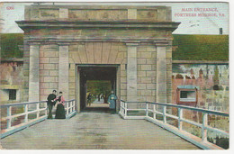 Fortress Monroe, Norfolk, Used 1910 To Switzerland - Norfolk
