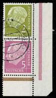 Bund 1955,Michel# S17 O Aus MHB - Se-Tenant