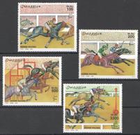 NW1451 2000 SOMALIA SOOMAALIYA HORSE RACING SPORT FAUNA #832-835 MICHEL 21 EURO MNH - Horses