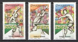NW1453 2000 SOMALIA SOOMAALIYA TABLE TENNIS SPORT #836-838 MICHEL 16 EURO MNH - Table Tennis