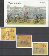 NW1456 2000 SOMALIA SOOMAALIYA BICYCLES CYCLING #819-821+BL68 MICHEL 27 EURO MNH - Cycling