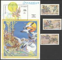 NW1466 1999 SOMALIA SOOMAALIYA ANIMALS FOR HUNTING BIRDS #742-744+BL58 MICHEL 25 EURO MNH - Other