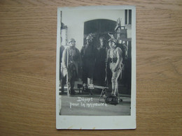 PHOTO MILITAIRE DEPART POUR LA MANOEUVRE A. LEMOINE GAILLAC - War, Military