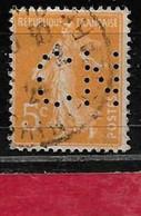 @  Perfin France  Perfore CN 279   Indice 6 - Gezähnt (Perforiert/Gezähnt)