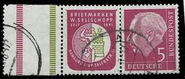 Bund 1955,Michel# W8 O Aus MHB - Se-Tenant