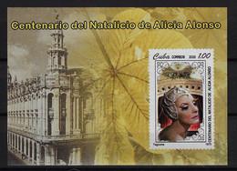 CUBA 2020. HB CENTENARIO DEL NACIMIENTO DE ALICIA ALONSO. BALLET. MNH. - Nuevos