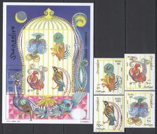 NW1486 1997 SOMALIA SOOMAALIYA SHIMBIRO BIRDS #665-668+BL44 MICHEL 18,5 EURO MNH - Other
