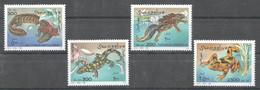 NW1493 1996 SOMALIA SOOMAALIYA REPTILES & AMPHIBIANS FAUNA #580-583 MICHEL 10 EURO MNH - Other