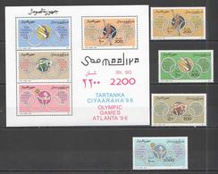 NW1498 1996 SOMALIA SOOMAALIYA OLYMPIC GAMES ATLANTA #592-595+BL38 MICHEL 17,5 EURO MNH - Summer 1996: Atlanta