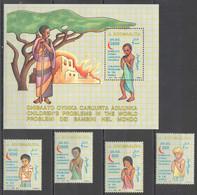 NW1518 1993 SOMALIA SOOMAALIYA CHILDREN'S PROBLEMS #476-479+BL28 MICHEL 20 EURO MNH - Andere