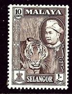 Malaya-Selangor 107 MNH 1957 Issue    (ap3341) - Selangor
