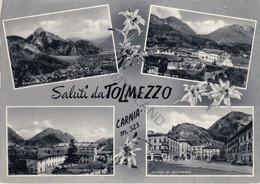 CARTOLINA  SALUTI DA TOLMEZZO-CARNIA M.323,UDINE,FRIULI VENEZIA GIULIA,BELLA ITALIA,CULTURA,MEMORIA,VIAGGIATA 1966 - Udine