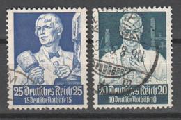 Drittes Reich , Nr.562-63 Gestempelt - Usati