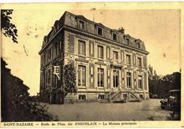 CPA N°256 - LOT DE 2 CARTES DE SAINT-NAZAIRE - ECOLE DE PLEIN AIR D' HENLAIX - MAISON PRINCIPALE ET UN DORTOIR + CACHET - Saint Nazaire