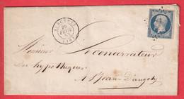 N°10 PC 2956 SURGERES CHARENTE INFERIEURE MARITIME POUR ST JEAN D'ANGELY - 1849-1876: Klassik