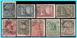 GREECE-GRECE - Hellas Egeo Rodi Italy 1932: Compl. Set Used - Egée