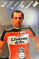 Postcard - Franco Vona - Chateau D'Ax - 1989 - Ciclismo
