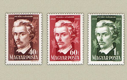 Hungary 1950. Sandor Petofi Nice Set MNH (**) Michel: 1083-1085 - Unused Stamps