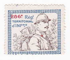 Vignette Militaire Delandre - 286ème Régiment Territorial D'infanterie - Military Heritage