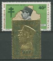 Obervolta 1971 Erster Todestag Von Charles De Gaulle 352/53 Postfrisch - Haute-Volta (1958-1984)