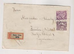 CZECHOSLOVAKIA CESKI TESIN 1920 Nice  Registered Cover To Yugoslavia HRADCANY - Covers & Documents