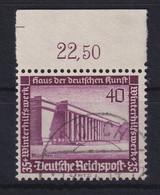 Deutsches Reich 1936 Haus Der Kunst  Mi.-Nr. 642 Oberrandstück Gestempelt - Zonder Classificatie