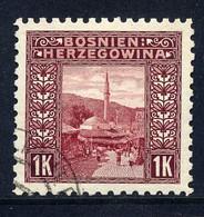 Bosnien-Herz. Mi. 42 C (L 9 1/4) Gestempelt - Bosnia And Herzegovina
