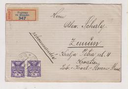 CZECHOSLOVAKIA FRYSTAT VE SLEZSKU 1923 Nice  Registered Cover To Yugoslavia - Covers & Documents