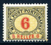 Bosnien-Herz. PORTO Mi. 6 B (K 12 1/2:13) Falz - Bosnia And Herzegovina