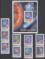 NW1496 1996 SOMALIA SOOMAALIYA SPACE PLANETS #598-606+BL39 MICHEL 22,5 EURO MNH - Andere